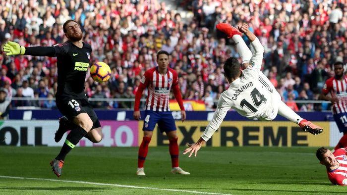 Real Madrid menang 3-1 atas Atletico Madrid dalam lanjutan Liga Spanyol (Foto: Susana Vera/Reuters)