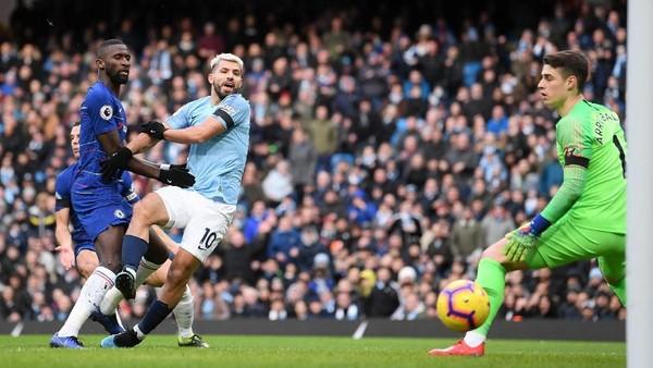 Babak I, Manchester City Sudah Unggul 4-0 atas Chelsea