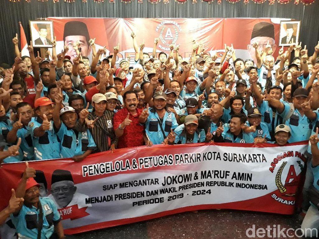 Juru Parkir Solo Deklarasi Pro-Jokowi: Balas Budi untuk Pak Wali Kota