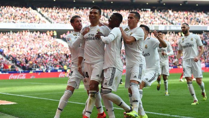 Real Madrid naik ke peringkat kedua klasemen Liga Spanyol usai menang atas Atletico Madrid (Foto: Denis Doyle/Getty Images)