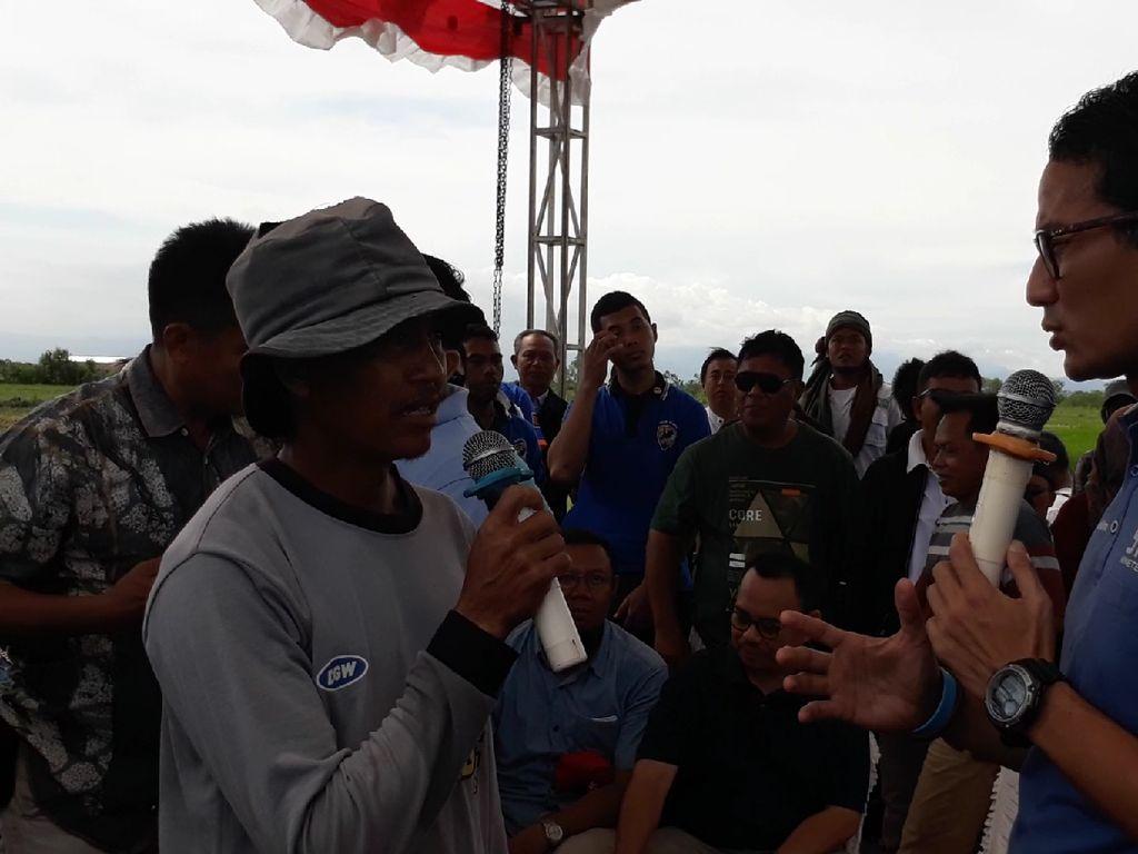 Petani Curhat ke Sandi: Jangan Sampai Tanam Bawang Tumbuh Utang