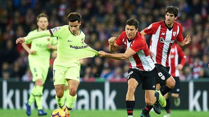 Barcelona ditahan Athletic Bilbao 0-0, hasil seri ketiga beruntun. Foto: Juan Manuel Serrano Arce/Getty Images