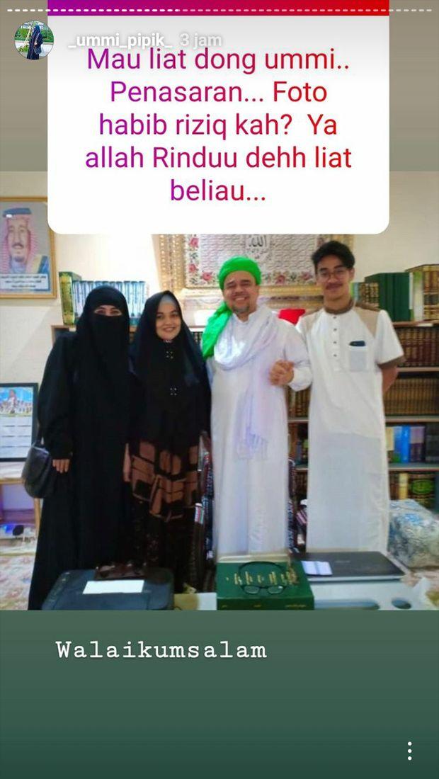 Penampakan Foto Pipik dan Habib Rizieq yang Dihapus