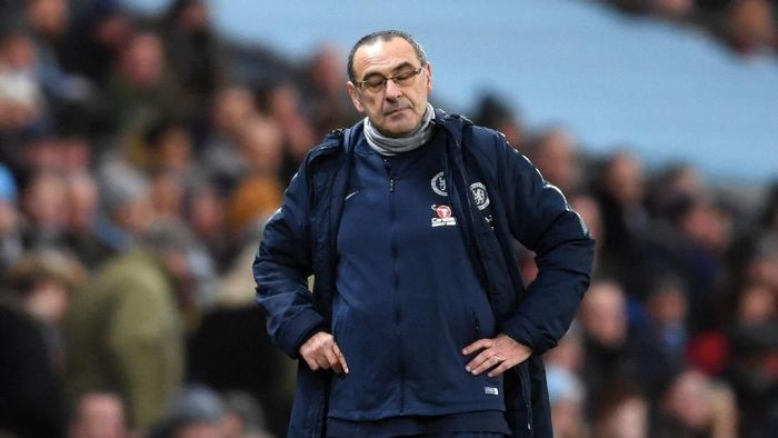 Pelatih Chelsea, Maurizio Sarri. (Foto: Laurence Griffiths/Getty Images)