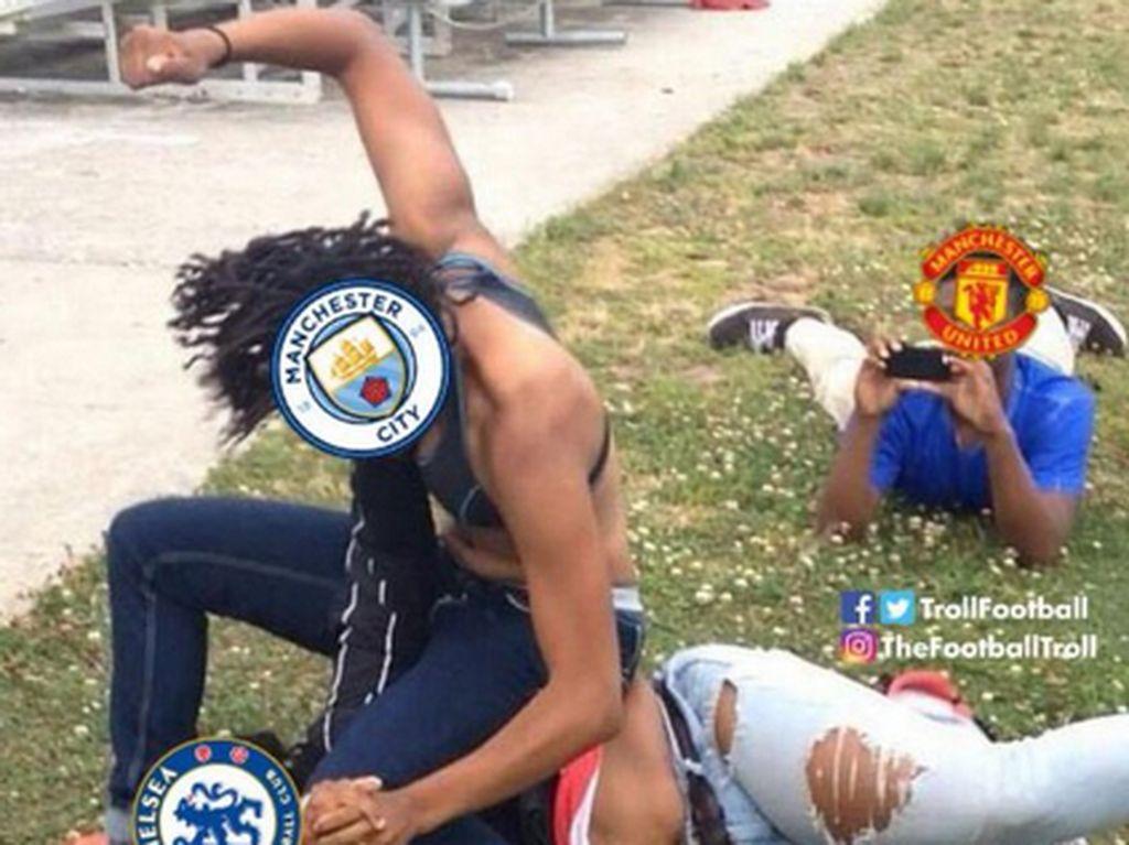 Meme-meme Kocak Chelsea Babak Belur di Markas Manchester City