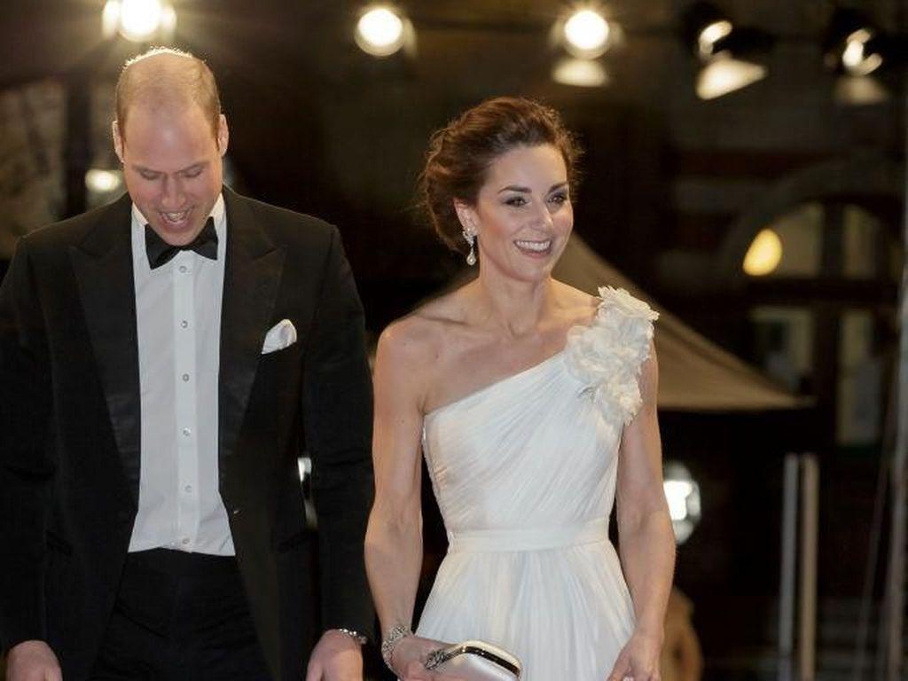 Bak Malaikat, Kate Middleton Memesona Bergaun Putih di BAFTA Awards 2019