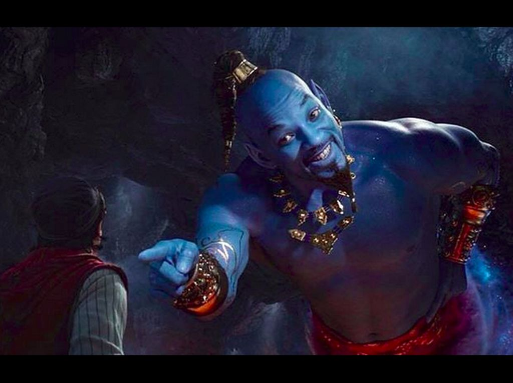 Tampilan Will Smith Jadi Jin Biru di Aladdin Curi Perhatian