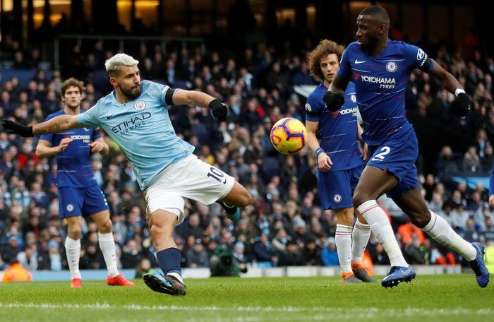 Pertandingan Manchester City melawan Chelsea dihelat di Etihad Stadium, Minggu (10/2/2019) malam WIB. Reuters/Carl Recine.