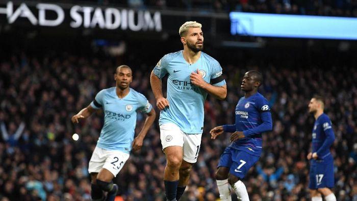 Manchester City menang telak 6-0 atas Chelsea. (Foto: Michael Regan/Getty Images)