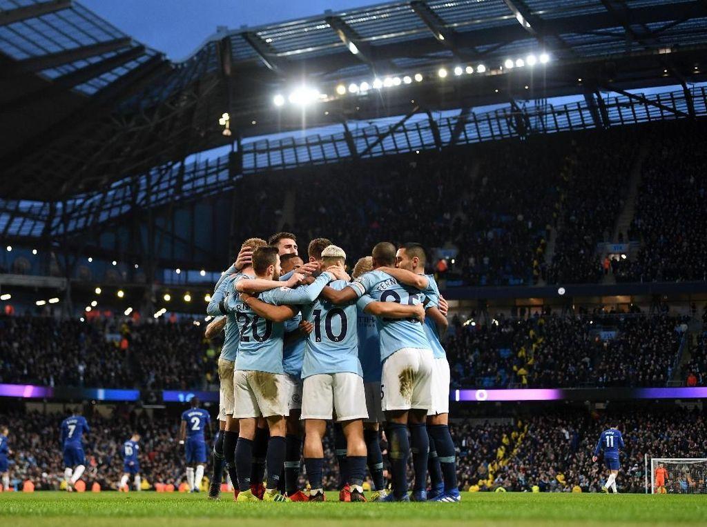 11 Fakta Kemenangan City atas Chelsea: Super Aguero dan Si Malang Sarri