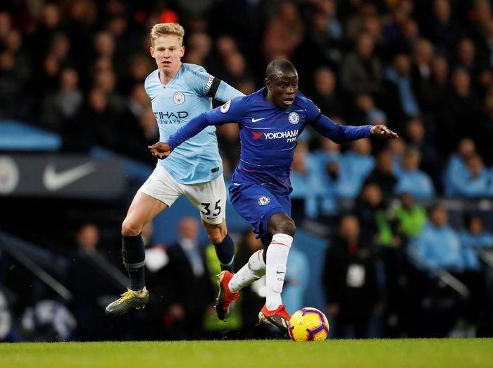NGolo Kante saat Chelsea menghadapi Manchester City. (Foto: Carl Recine/Reuters)