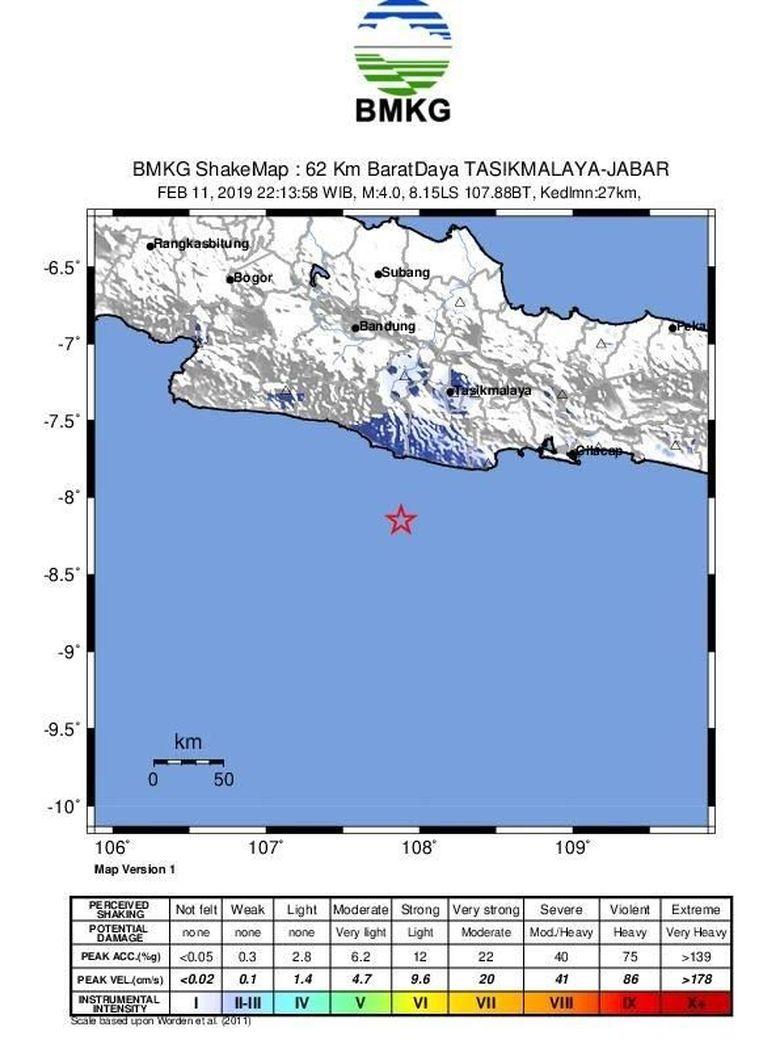 Analisis BMKG Soal Gempa Guncang Tasikmalaya dan Terasa Sampai Pangandaran