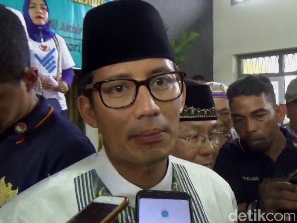 Sandiaga Uno: Pak Ustaz Slamet Maarif Tak Bersalah
