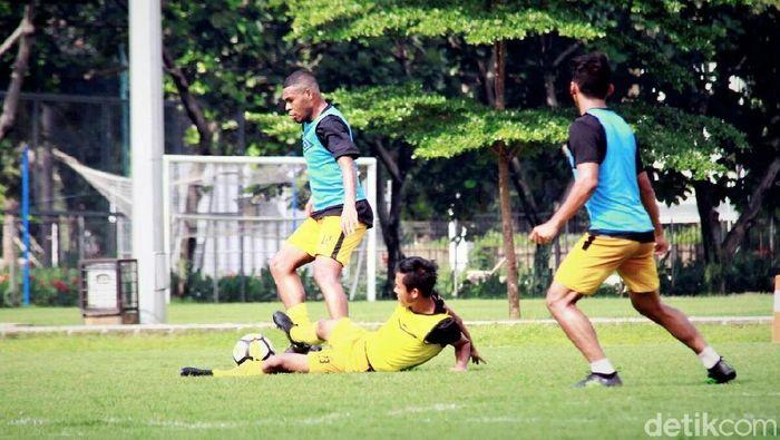 Bhayangkara FC fokus menghadapi babak 16 besar Piala indonesia. (Amalia Dwi Septi/detikSport)