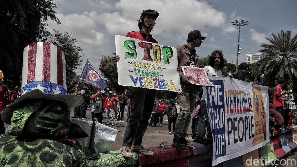 Venezuela Krisis, Kedubes AS di Jakarta Jadi Sasaran Demonstran