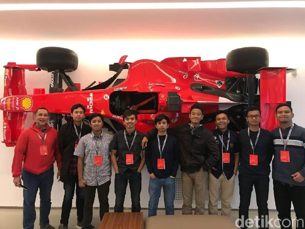 Cerita Tim Sapuangin ITS saat Timba Ilmu di Markas Ferrari