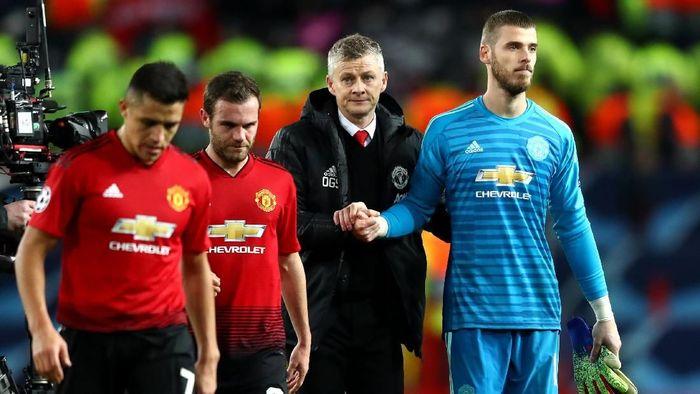 Manchester United takluk dari Paris Saint-Germain di Old Trafford. (Foto: Michael Steele/Getty Images)