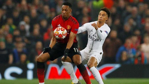 Man United hany menciptakan satu tembakan tepat sasaran saat melawan PSG.