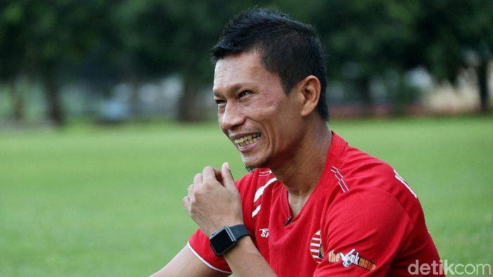 Ismed Sofyan berkisah soal perpindahan posisi dari striker ke bek kanan. (Foto: Rengga Sancaya/detikcom)