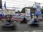 Duh, Spanduk Kampanye Caleg Bikin Kumuh Jalanan Ibu Kota