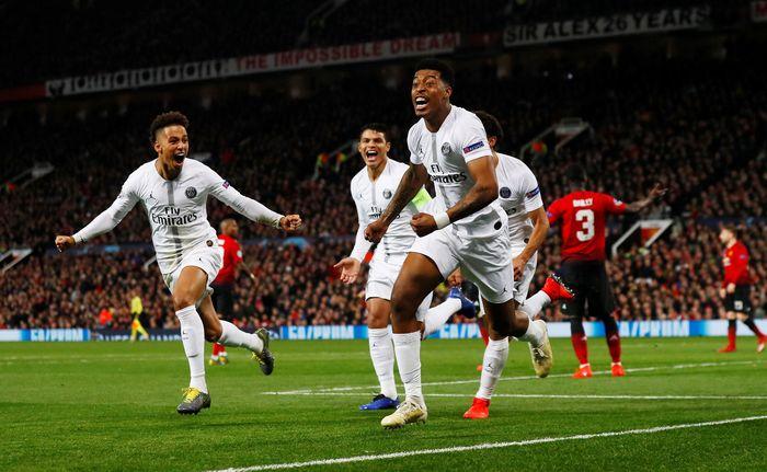 Manchester United dipaksa mengakui keunggulan Paris Saint Germain, di kandang sendiri, Old Trafford, dalam pertandingan leg pertama babak 16 besar Liga Champions, Rabu (13/2/2019) dinihari WIB. Jason Cairnduff/Reuters.