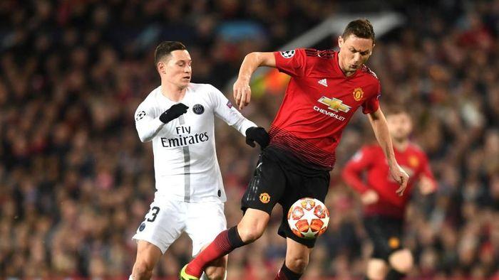 Manchester United vs Paris Saint-Germain berakhir tanpa gol di babak pertama. (Foto: Michael Regan/Getty Images)