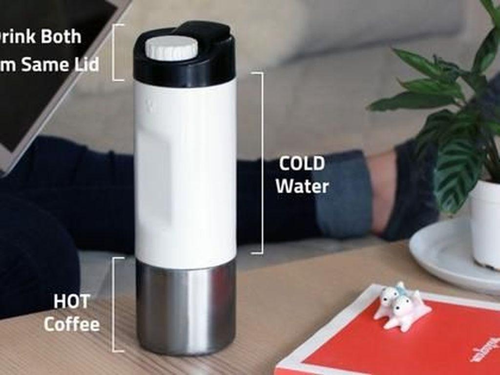 Botol Canggih Ini Bisa Simpan Kopi Panas Sekaligus Air Dingin