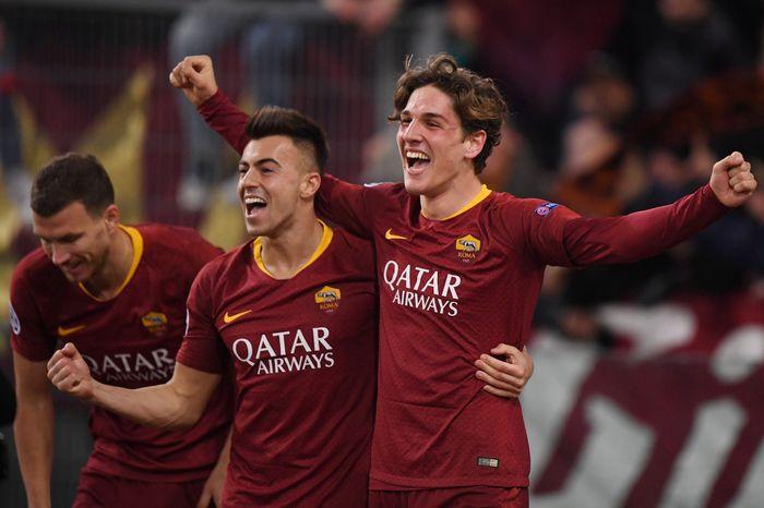 AS Roma mengalahkan FC Porto di leg pertama babak 16 besar Liga Champions. Alberto Lingria/Reuters.