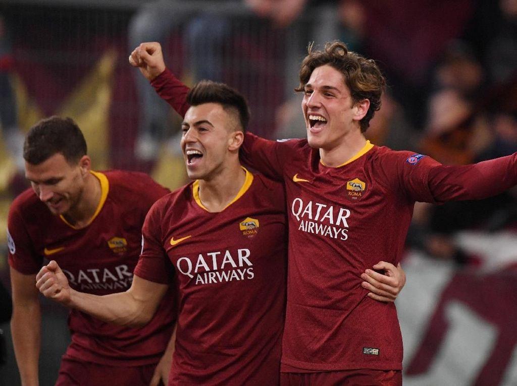 Hasil AS Roma vs FC Porto: Dua Gol Zaniolo Menangkan Serigala 2-1