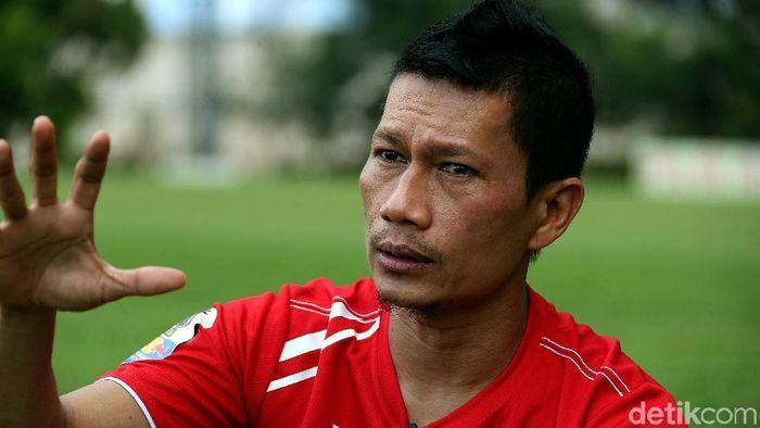 Ismed Sofyang mengungkapkan kesedihannya bersama Persija Jakarta. (Foto: Rengga Sancaya/detikcom)