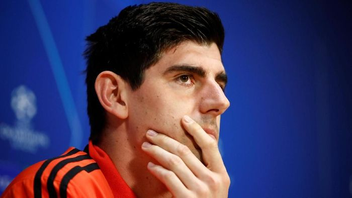Kiper Real Madrid Thibaut Courtois. (Foto: Wolfgang Rattay/Reuters)