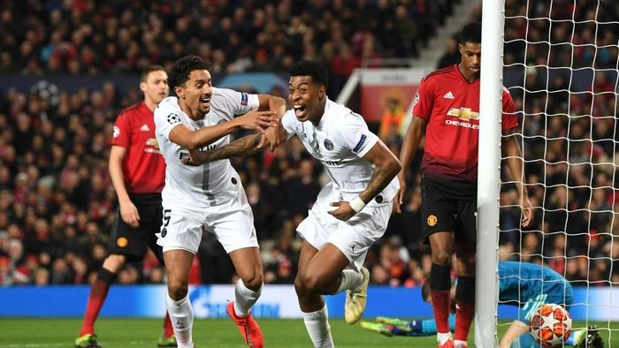 PSG menang 2-0 atas MU di Old Trafford. (Foto: Michael Regan/Getty Images)