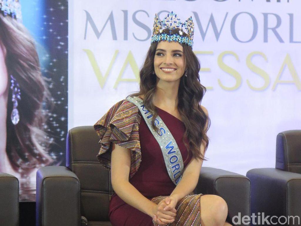 Datang ke Indonesia, Miss World 2018 Vanessa Ponce de Leon Tak Ingin Pulang