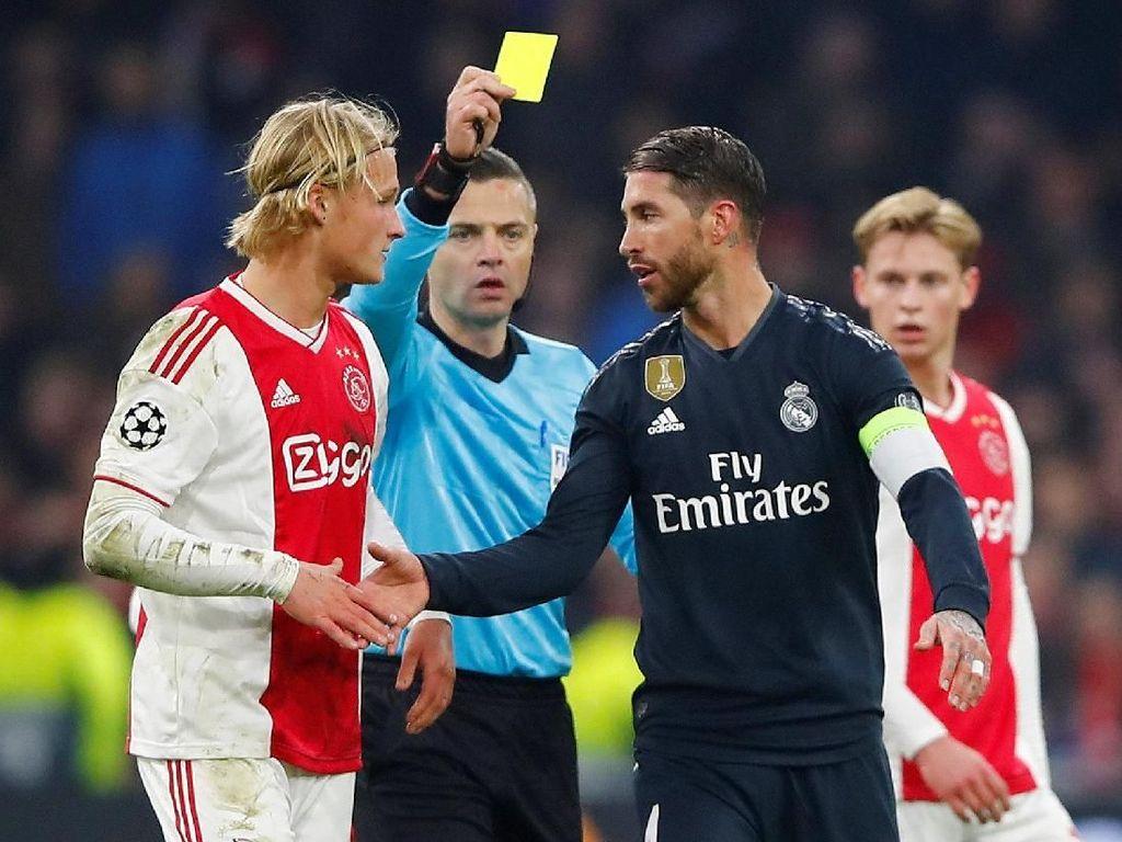 Soal Kartu Kuning di Markas Ajax, Ramos Mengaku Salah