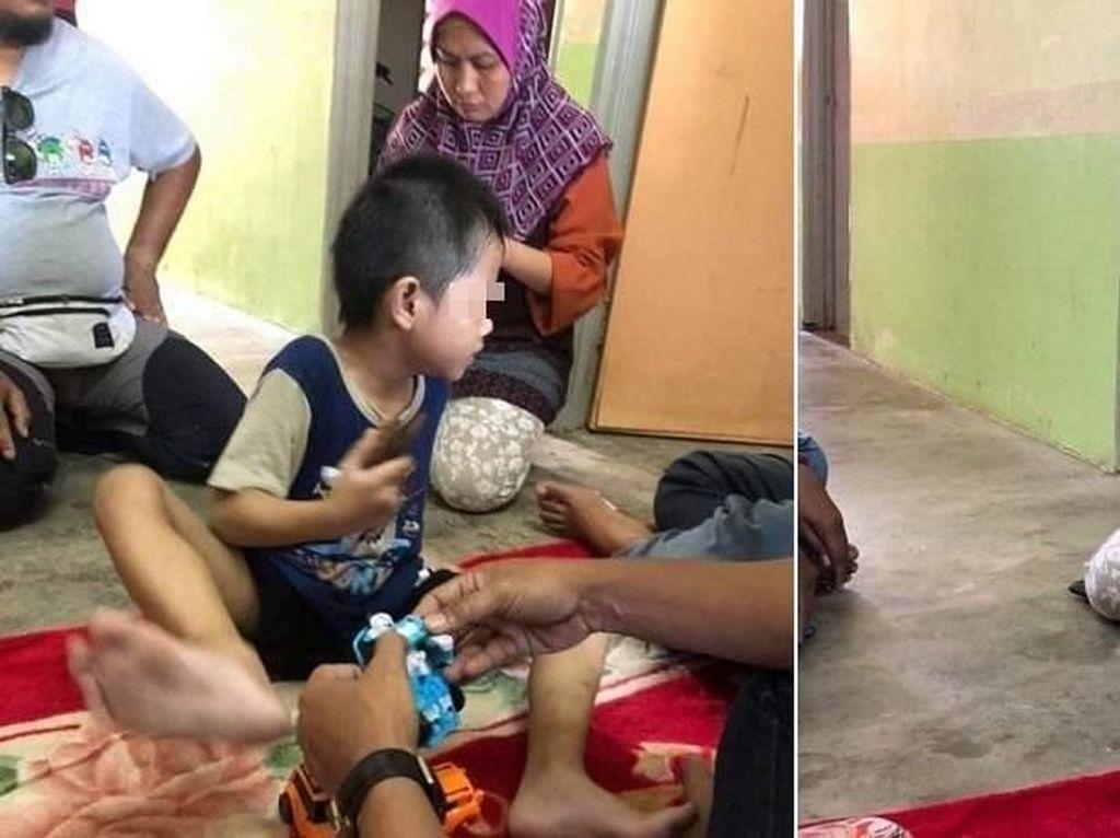 Tak Punya Cukup Uang, Anak Ini Makan dari Tempat Sampah Sekolahnya
