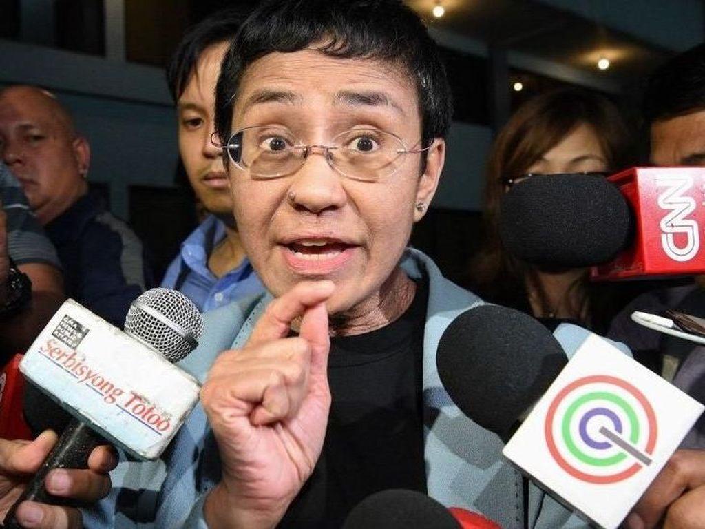 Jurnalis Maria Ressa Pengkritik Duterte Dibebaskan dengan Jaminan
