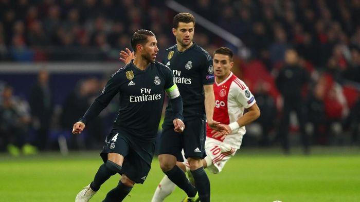 Real Madrid menang 2-1 atas Ajax di leg pertama 16 besar Liga Champions. (Foto: Dean Mouhtaropoulos/Getty Images)