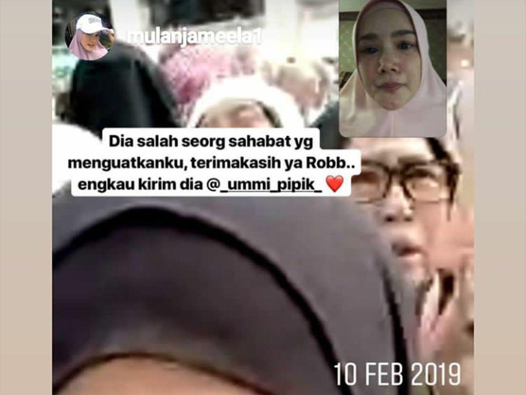 Wajah Mulan Jameela Sembab Video Call dengan Ummi Pipik