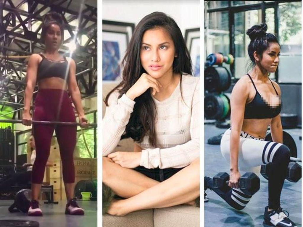 Transformasi Seksi Gita Bachtiar, Lampiaskan Galau dengan Body Building