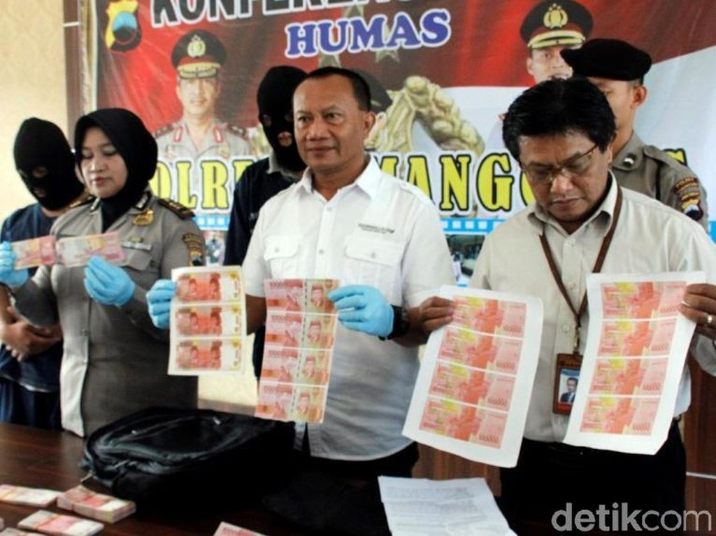 Polisi Temanggung Bekuk 2 Pengedar Upal Senilai Rp 50 Juta