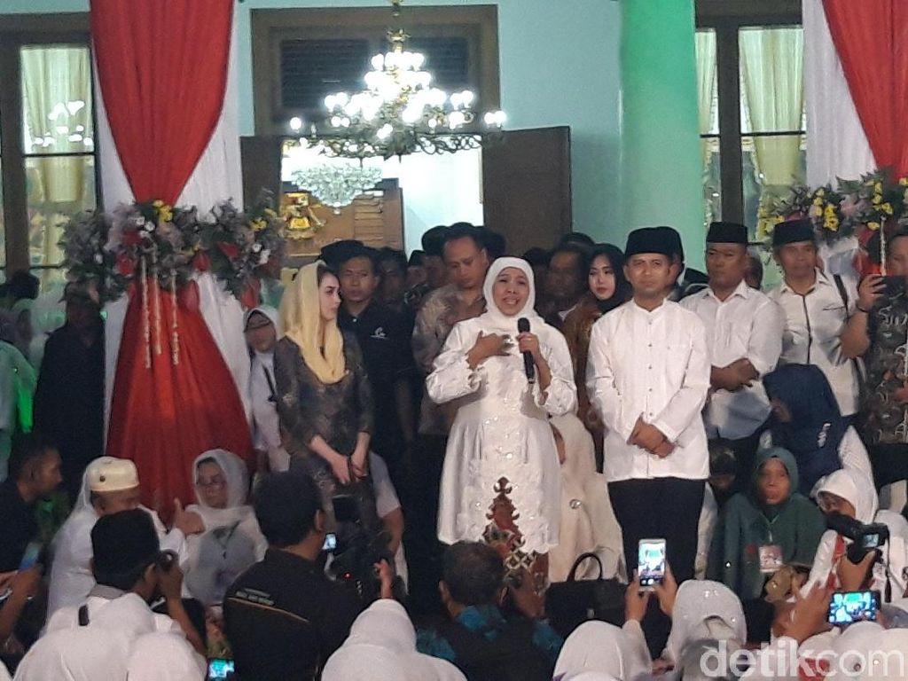 Gubernur Khofifah Ajak Masyarakat Doakan Kesembuhan Ani Yudhoyono