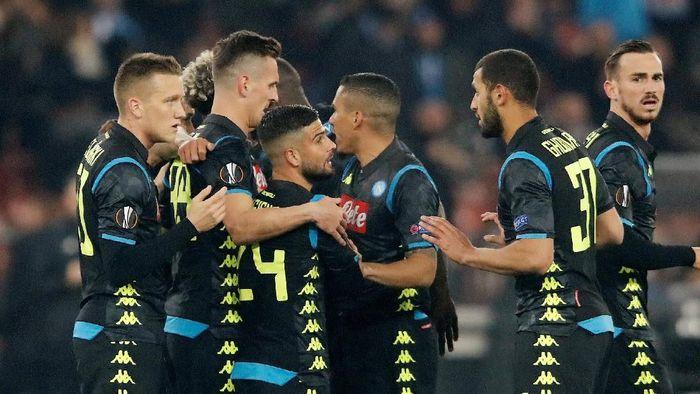 Napoli menang 3-1 atas FC Zurich di leg pertama babak 32 besar Liga Europa. (Foto: Arnd Wiegmann/Reuters)