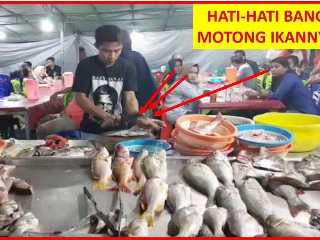 Keren! Aksi Potong Ikan Super Cepat di Ternate Ini Bikin Bengong