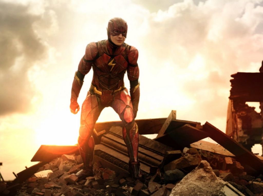 Penampakan The Flash Versi Asli di Justice League