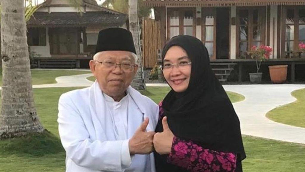 Istri Maruf Amin Bergaya Syari Setiap Hari, Seperti Ini Pilihan Hijabnya