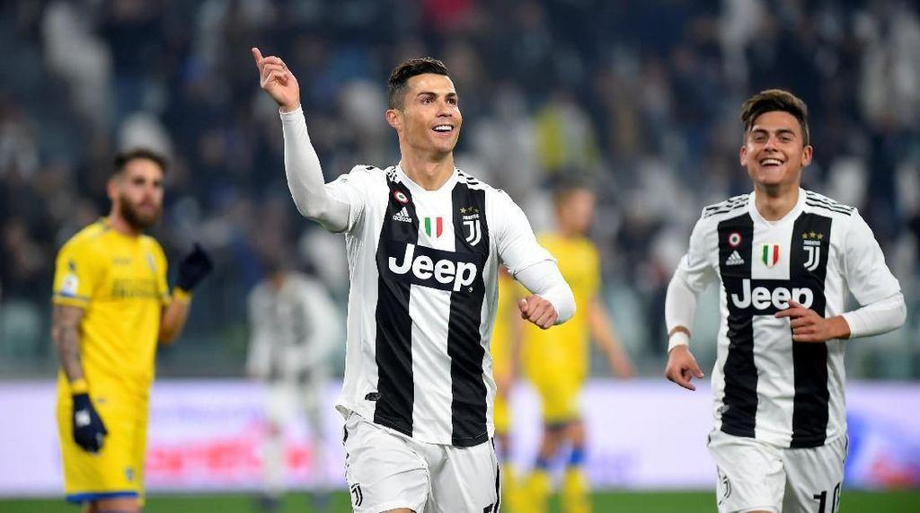 Aksi-aksi Ronaldo-Dybala Saat Libas Frosinone