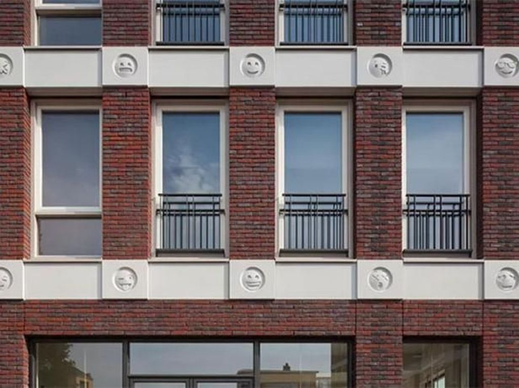 Unik, Desain Apartemen Ini Diselipkan Emoji WhatsApp