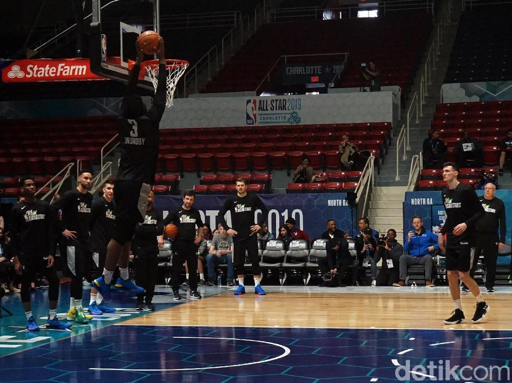 Latihan Rising Star Buka NBA All Star Weekend 2019