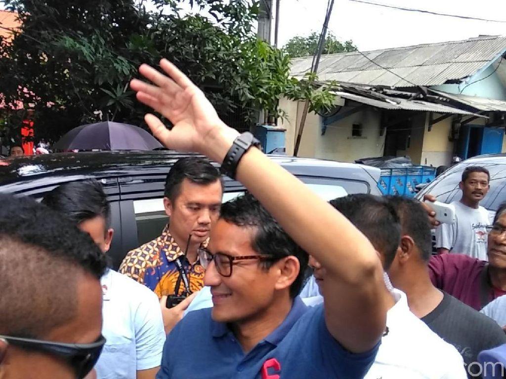 Sandiaga Jenguk Ahmad Dhani yang Ditahan di Rutan Medaeng