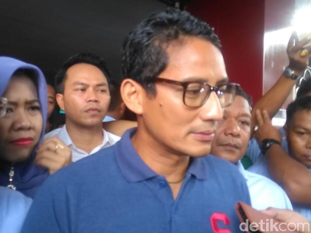 Cerita Sandiaga Saat Jenguk Ahmad Dhani di Rutan Medaeng